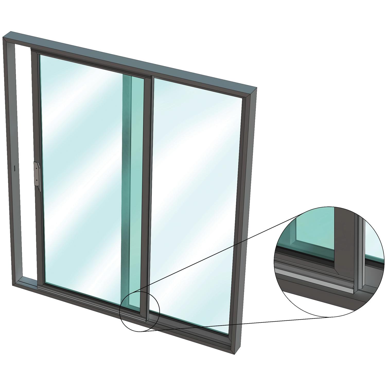 IS5111si for Aluminium sliding door in an aluminium frame - Kilargo