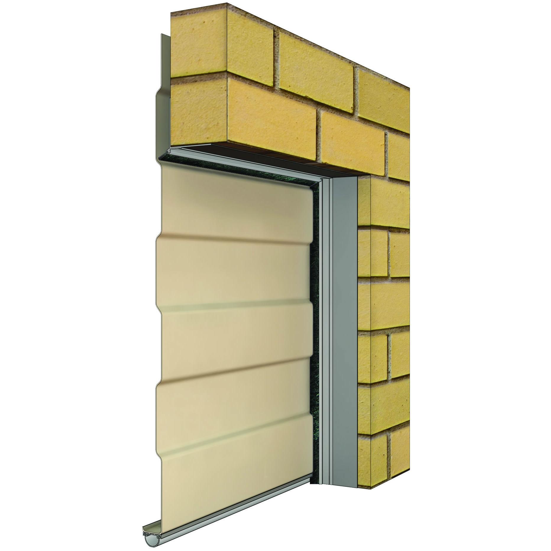 1863 #9B8530 IS5175A IS3020si For Metal Clad Garage Roller Door In Brickwork  picture/photo Metal Clad Exterior Doors 41091863