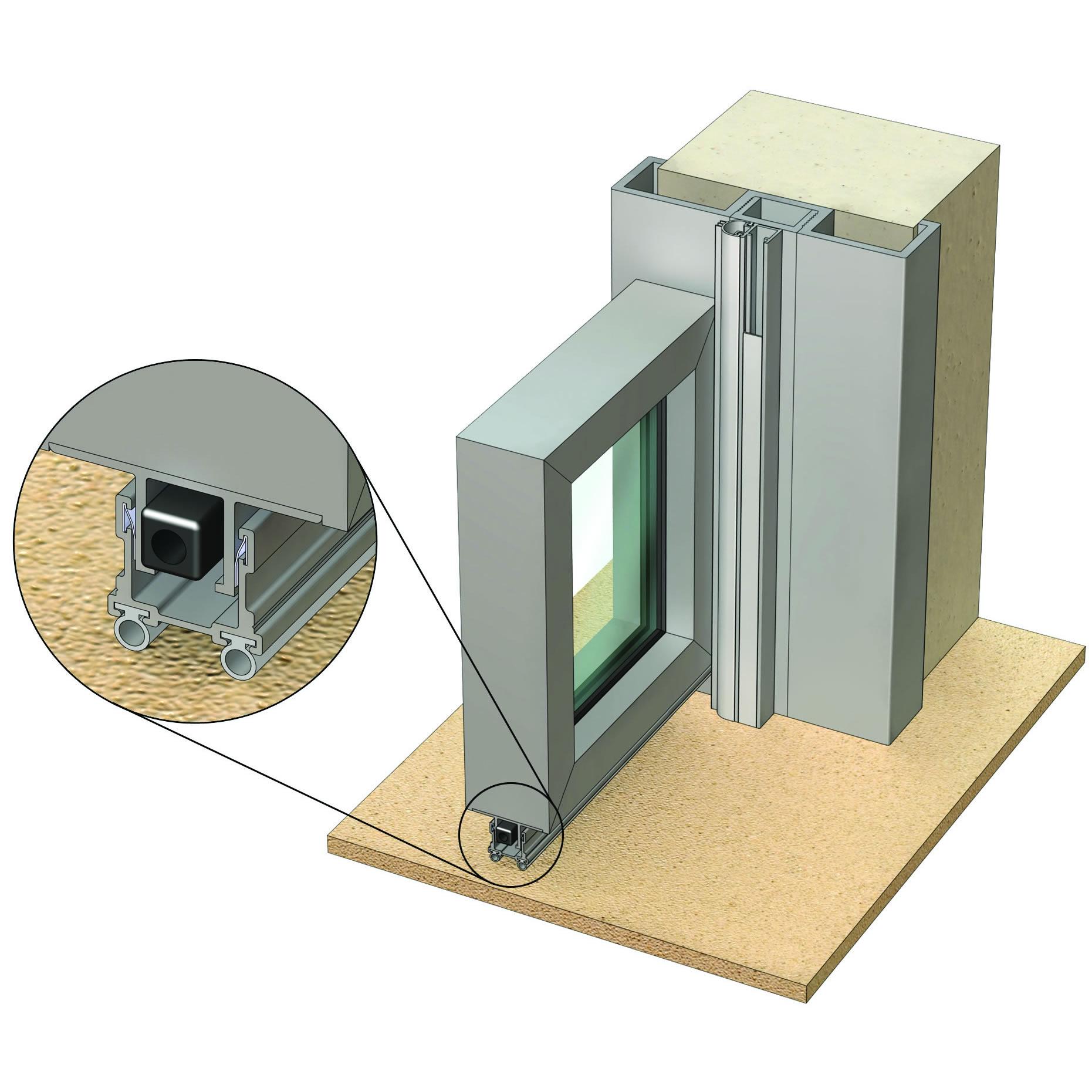 Non-rated  Single Leaf  Side-hung Aluminium Door in Aluminium FrameAluminium Door Frame Sections