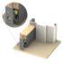 Kilargo IS8090si Heavy Duty Semi-rebated Automatic Door Bottom Seal